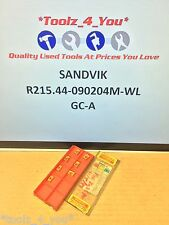 7x New Sandvik R215.44-090204M-WL GC-A Carbide Inserts For Milling CI67