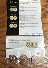 * 2016 First Spouse Bronze Medal Series 3 Three-Medal Set 16ma - FREE SHIPPING *