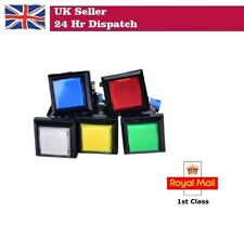 3 x 33mm Square Game Machine Push Button Arcade LED Illuminated Push Button