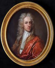 Large Fine 18th Century Dutch Portrait of Noble Gentleman Antique Oil Painting