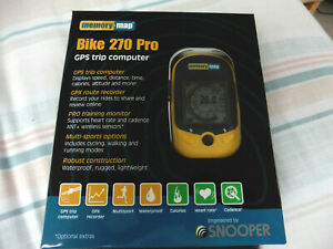 MEMORY MAP BIKE 270 PRO - GPS TRIP COMPUTER - WITH CASE - BOXED - NEW