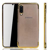 Samsung Galaxy A50 Custodia Cover per Cellulare Protezione Protettiva Bumper Oro