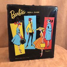 Vintage 1961 Ponytail doll case Barbie storage wardrobe vinyl mid century mod