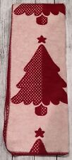 "Christmas Tree Throw Blanket Holiday Christmas Red 50"" X 67"" NEW"