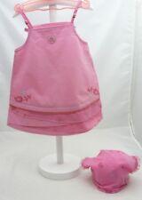 Sucre d'Orge. ensemble robe rose clair et chapeau. bébé fille 9/12 mois