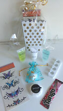 10 Girls Pre Filled Gold + White Luxury Party Bags Birthday Pamper Sleepover Hen