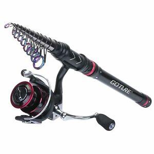 Fishing Rod and Reel Combo Telescopic Rod 1.8M-3.6M Spinning Reel Sea Fishing