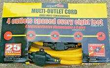 Electra Trac Extension Multi-Outlet Cord 25' 12 gauge Extension Cord