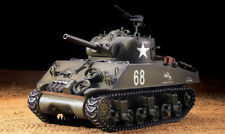 RC Panzer US M4A3 Sherman Heng Long Rauch Sound Metallgetriebe Schuss 1:16