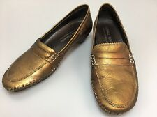 Donald J Pliner Slip On Shoes Size 7 N Petra Bronze  Metallic Low Heel