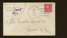 1917 Tipton Wyoming Early Statehood Postal Duplex Canceled Cover
