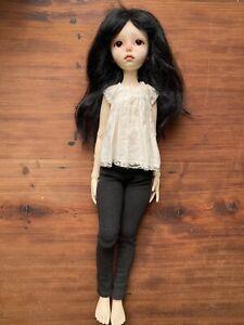 Melacacia Custom iMda Doll BJD Manon 4.3 Mohair Wig Henriette Jardin Dress RARE