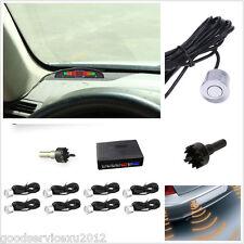Silver 8 Parking Sensor Car Astern Backup Radar Human Voice Alarming System Kit
