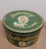 Vintage Patterkrisp Patterson Chocolates 10LBS Tin Candy General Store Decor