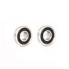 """Set of 2 Flanged Ball Bearings 1/2"""" ID x 1-1/8"""" OD for Lawn Mower Wheel"""