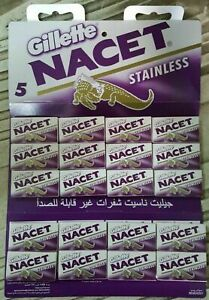 GRATE 100 Double Edge Razor Blades Gillett NACET Stainless Russia Men's Razors !