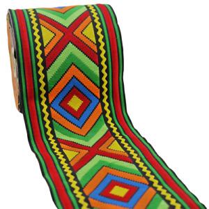 ~10m EMBROIDERED RIBBON TRIM* 100mm Aztec-Ethnic (100971)