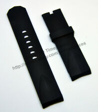 Comp. Corum Admiral's Cup 24mm Black Rubber Watch Band-Strap