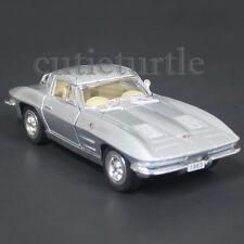 Kinsmart 1963 Chevrolet Corvette Stingray 1:38 Diecast Toy Car Silver