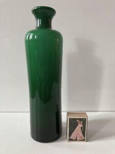 HOLMEGAARD PER LÜTKEN Vase Objekt Glas Überfangglas grün weiss / green white