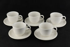 Fiesta Five White Lead Free Cups & Saucers
