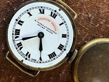 Rare American System Swiss made 1920's WWI MILITARY Original Dial 33mm RUNS