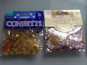 Wedding Table Confetti x 2 Packs BN   Bells Hearts and Stars