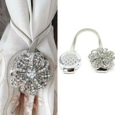 1Pair Magnetic Curtain Tiebacks Crystal Tie Backs Buckle Clips Holdbacks Home