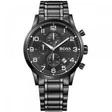 Brand New Men's Hugo Boss HB1513180 Aeroliner Chronograph Mens Black Watch - UK