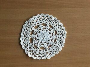 Besondere TISCHDECKE ♛ HÄKEL Decke  Handarbeit weiss  ca 11 cm Durchmesser