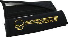 C6 Corvette Racing Jake Black Velour Shoulder Belt Pads w/ Jake Skull & Script