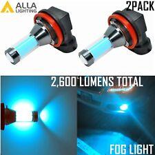Alla Lighting LED H11 Driving Fog Light Bulb Replacement,Cool Light Ice Blue Tin