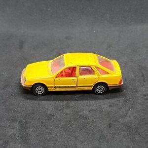 Ford Sierra 2.3 Ghia Yellow #129 CORGI Die-Cast Vintage Vehicle 1982 Mettoy