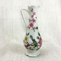 Old Foley Cina Miniatura Brocca Cinese Rosa Giacomo Kent Ceramiche Uccelli Fiori