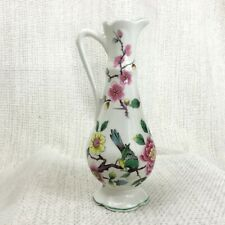 More details for old foley china miniature jug chinese rose james kent pottery birds flowers