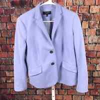 Talbots petites 2 button blazer jacket women's 14P cotton blue