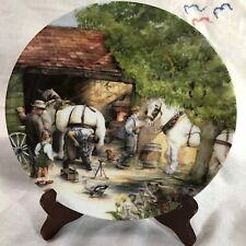 The Blacksmith by Susan Neale~1990 Bradex Collector Plate