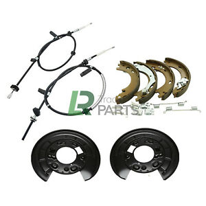 LAND ROVER DISCOVERY 3 & 4 REAR HAND BRAKE CABLES, SHOES & PLATES (2004-2016)