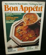 BON APPETIT COOKING MAGAZINE VINTAGE SEPTEMBER 1978 COOKING WITH JULIA CHILD ++