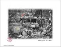 Old Firetruck Old Firefighters Never Die 8x10 Print