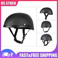 Motorcycle Half Helmet Lightweight Skull Cap Scooter Chopper Street Bike E3W7