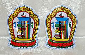 Aufkleber 2 x Kalachakra 10 x 7,5 cm Namchuwangdan TIBET NEPAL INDIEN DALAI LAMA