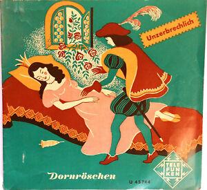 """Dornröschen - Ein Märchen der Brüder Grimm (m. Text) 7""""-Schallplatte Rarität!!"""