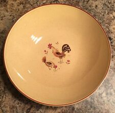 Harmony House Honey Hen Vintage Large Round Serving Bowl Chickens
