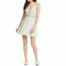 Free People Ilektra Lace Boho Mini Dress $128 21423 Size L