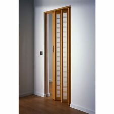 Home style Frosted Square Folding Door insert Décor Plastic Brown Interior Wall