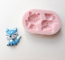 Cute Fox Woodland Animal Silicone Mold Mould Food Grade Fondant Clay Sugarcraft