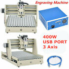 3Axis USB CNC 3040T VFD 400W Router Engraver Drilling,Milling Motor 3D Cutter US