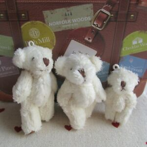 3 Teddies Family Classic Bears Fluffy Soft - Parties/Fun Play/Gift/Favour3 Sizes