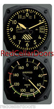 New TRINTEC VINTAGE ALTIMETER & AIRSPEED Clock & Thermometer 2pc Console Set